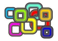 De vierkante achtergrond van de kleur Stock Illustratie