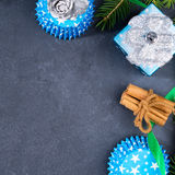 De vierkante achtergrond van Kerstmis Royalty-vrije Stock Afbeeldingen
