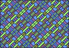 De vierkante achtergrond van Varicoloured. Stock Foto