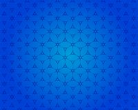 De vierkante 3D mening van het doospatroon is een blauwe achtergrond vector illustratie