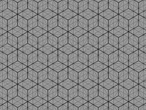 De vierkante 3D mening van het doospatroon is een grijze achtergrond stock illustratie