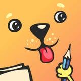 De vierkante hond van het beeldverhaalkarakter Royalty-vrije Stock Afbeeldingen
