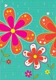 De Vierkante Kaart van de Vogels van bloemen royalty-vrije illustratie