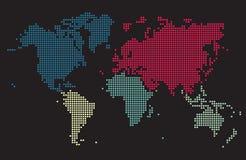 De vierkante Kaart van de Wereld Stock Afbeelding
