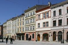 De vierkante mening van de stad stock afbeelding