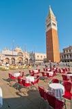 De vierkante mening van Venetië Italië Heilige Marco royalty-vrije stock afbeelding