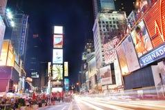 De vierkante nacht van de Tijden van de Stad van New York stock afbeelding