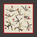 De vierkante sjaal van de tulp Stock Afbeelding