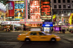 De vierkante taxi van tijden Royalty-vrije Stock Afbeeldingen