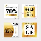 De vierkante verkoop van de Webbanner vector illustratie