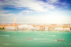 De vierkante waterkant van San Marco, Venetië Royalty-vrije Stock Afbeelding