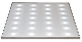 De vierkante witte lamp wordt geglanst Royalty-vrije Stock Foto's