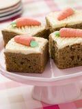 De Vierkanten van de Cake van de wortel royalty-vrije stock afbeeldingen