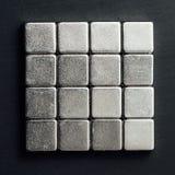 De vierkanten van neodymiummagneten stock afbeeldingen