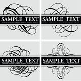 De Vierling van de Titel van de kalligrafie vector illustratie
