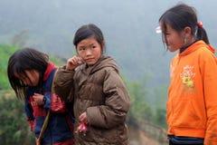 De Vietnamese etnische H'mong-kinderen spelen Stock Fotografie