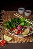 De Vietnamese soep Pho BO van de rundvleesnoedel Royalty-vrije Stock Afbeelding