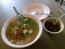 De Vietnamese soep van de rijstnoedel met krabbetjes Royalty-vrije Stock Afbeelding
