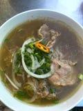 De Vietnamese soep van de rundvleesnoedel, Pho BO Stock Afbeeldingen