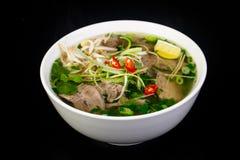 De Vietnamese soep van keukenpho BO stock afbeelding