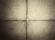 De vieux murs de plâtre sont décomposés Photographie stock libre de droits