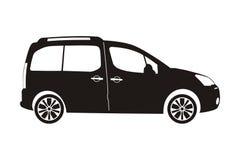 De vijfdeursauto van de pictogramauto Stock Afbeeldingen
