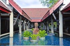 De vijver van de fontein Royalty-vrije Stock Foto's