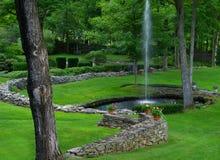 De Vijver van de fontein Stock Fotografie