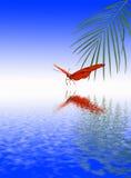 De vijver van de vlinder stock illustratie