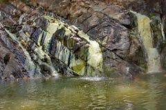 De Vilasha-Rivier met mooie kusten Stock Fotografie