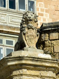 De Vilhena Lion statue in East Street, Valletta Royalty Free Stock Image