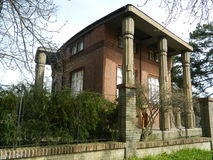 De villa BÃlek, Praag, Tsjechische republiek Stock Foto