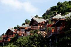 De villa's van Beachfront Stock Afbeelding