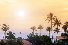 De villa's van de strandvakantie Stock Afbeelding
