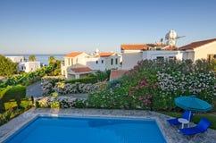 De villa's van de vakantie op Cyprus Stock Foto's
