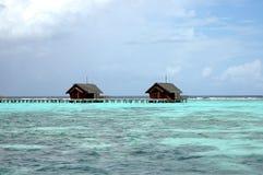 De villa's van het water royalty-vrije stock foto