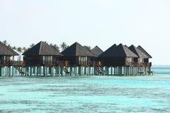 De villa van de Maldiven vater Royalty-vrije Stock Foto