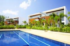 De villa van de pool royalty-vrije stock fotografie