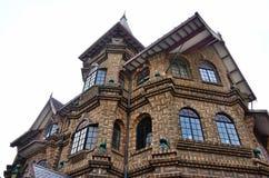De villa van de Skandinavisch-stijl Noors-Stijl Stock Afbeeldingen