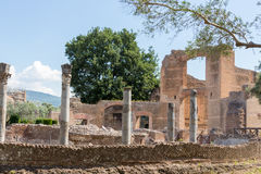 De Villa van Hadrian, de Villa van Roman Emperor ', Tivoli, buiten Rome, Italië, Europa Royalty-vrije Stock Foto