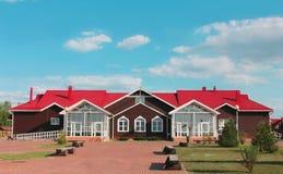 De villa van het land voor openluchtrecreatie Stock Afbeelding