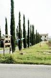 De villa van Toscanië Stock Foto