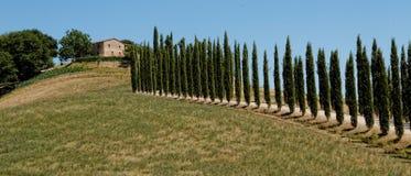 De villa van Toscanië royalty-vrije stock afbeelding