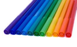 De viltpennen van de kleur Stock Foto