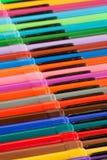 De viltpennen van de regenboog Royalty-vrije Stock Foto's