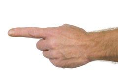 De vinger ondertekent deze manier Royalty-vrije Stock Foto's