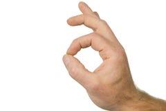De vinger ondertekent goed Royalty-vrije Stock Afbeeldingen