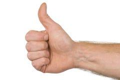 De vinger ondertekent omhoog duim Royalty-vrije Stock Foto's