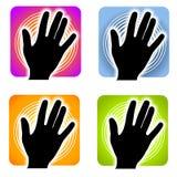De Vingerafdruk Indentification van Handprint Royalty-vrije Stock Afbeeldingen