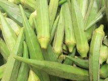 De vingers of bhindi van dames Stock Afbeeldingen